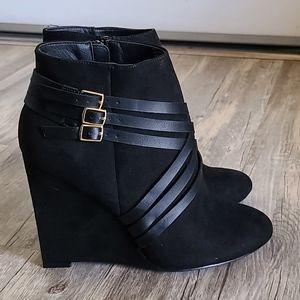 ShoeDazzle Wedge Booties